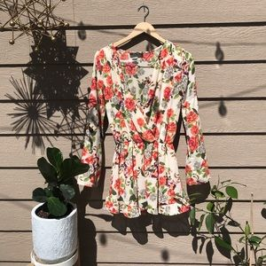 Floral Romper by Honey Punch